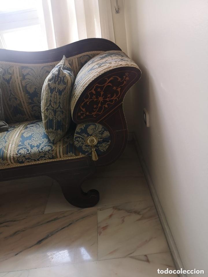 Antigüedades: Sofá tapizado con marquetería - Foto 12 - 171538733