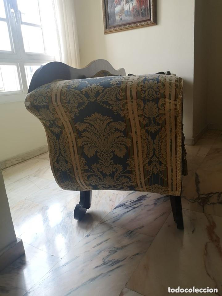 Antigüedades: Sofá tapizado con marquetería - Foto 16 - 171538733