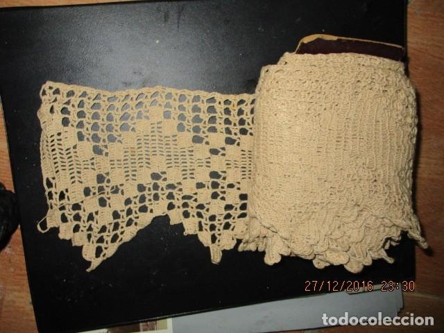 Antigüedades: increible ANTIGUO AGREMAN veig ancho PARA ALACENA TERMINACION ROPA ANTIGUA COLCHAS - Foto 3 - 174258659