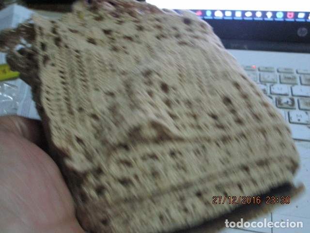 Antigüedades: increible ANTIGUO AGREMAN veig ancho PARA ALACENA TERMINACION ROPA ANTIGUA COLCHAS - Foto 7 - 174258659