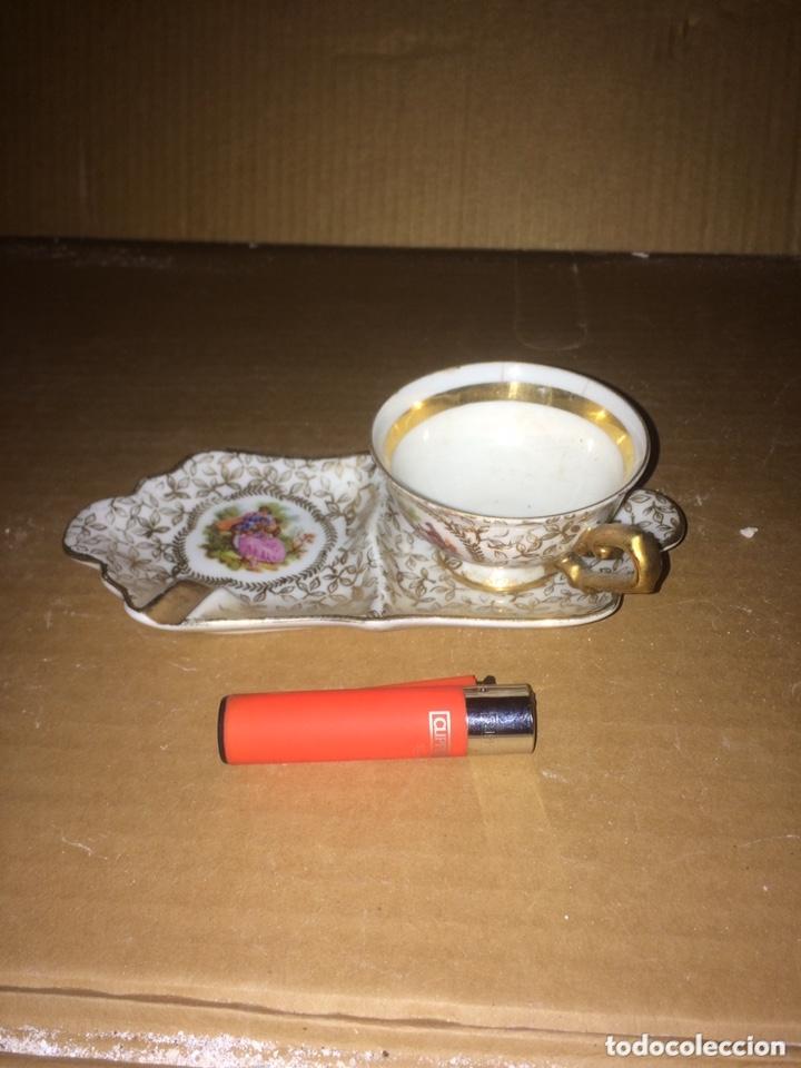 JUEGO DE UNA TAZA DE CAFE I PLATO(LIMOGES)! (Antigüedades - Porcelana y Cerámica - Francesa - Limoges)