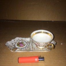 Antigüedades: JUEGO DE UNA TAZA DE CAFE I PLATO(LIMOGES)!. Lote 174262648
