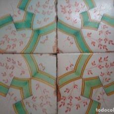 Antigüedades: PANEL CUATRO AZULEJOS.VALENCIA SIGLO XIX,.26. Lote 174265387