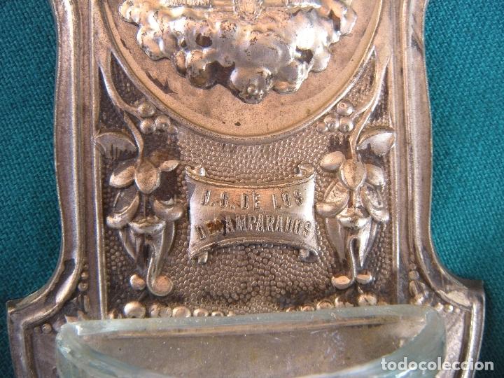 Antigüedades: BENDITERA NUESTRA SEÑORA DE LOS DESAMPARADOS - Foto 2 - 174274074