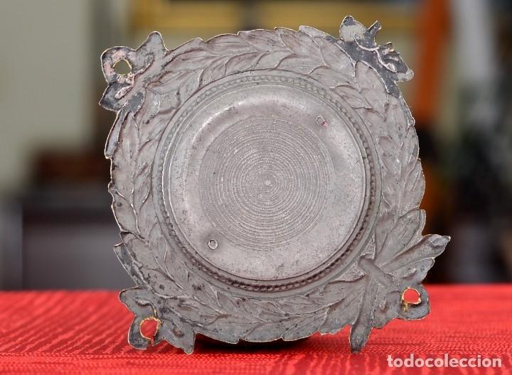 Antigüedades: PLACA VINTAGE LABRADA DEL CORAZÓN DE JESÚS - Foto 2 - 174274348