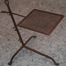 Antigüedades: PARRILLA REGULABLE HIERRO FORJADO. Lote 174275159