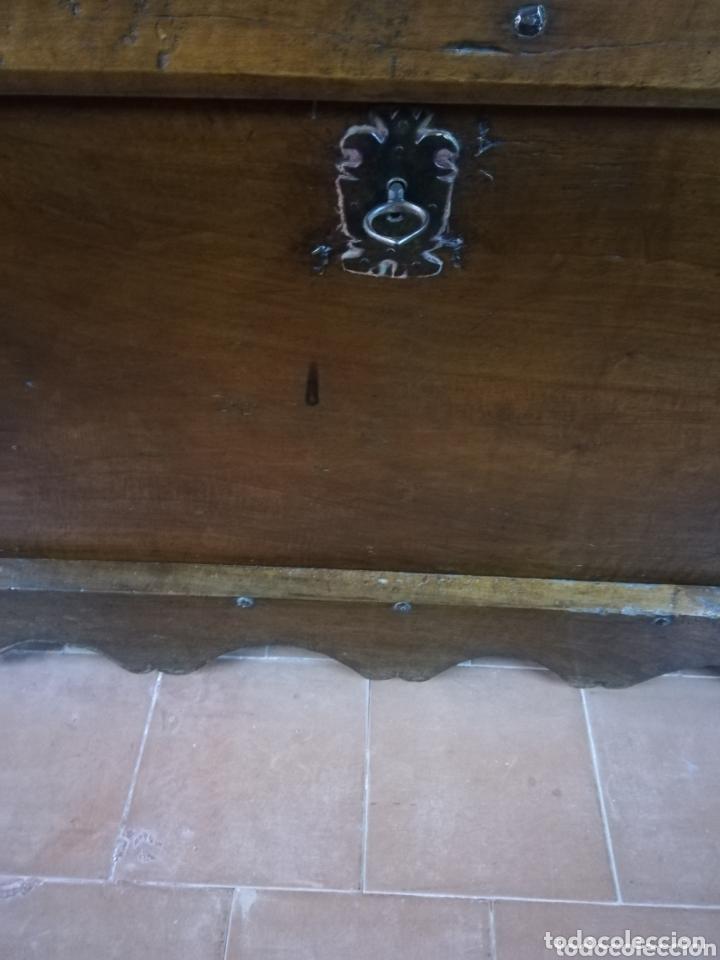 Antigüedades: Arca nogal antigua - Foto 3 - 174295273