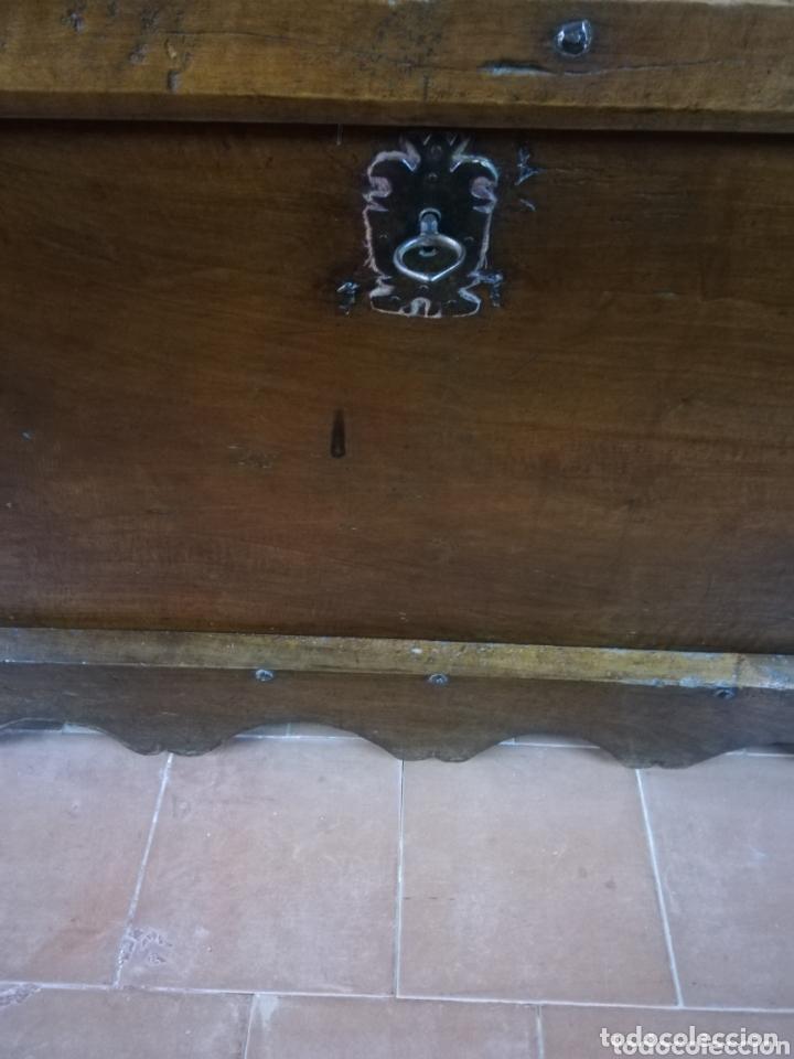 Antigüedades: Arca nogal antigua - Foto 4 - 174295273