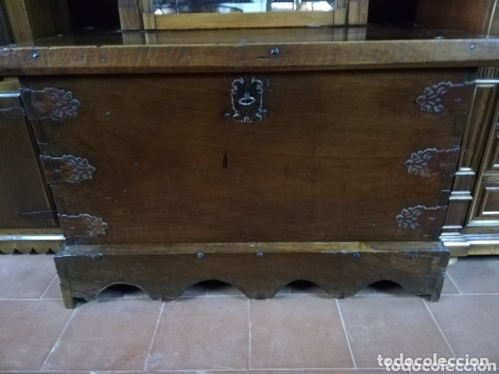 ARCA NOGAL ANTIGUA (Antigüedades - Muebles Antiguos - Baúles Antiguos)