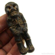 Antigüedades: ANTIGUA TALLA EN PIEDRA DE CARAVELA ,MEZCALA. Lote 174297332