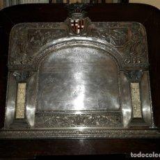 Antigüedades: PLACA CONMEMORATIVA. MERCADO DE SANTA CATALINA, BARCELONA. 1925. Lote 174299637