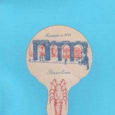 Antigüedades: PAY PAY PUBLICITARIO DE CARTÓN CON JUEGO EN REVERSO. RESTAURANTE 7 PORTES (7 PUERTAS), BARCELONA. Lote 174308459