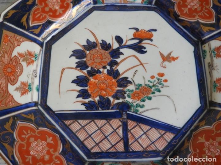 Antigüedades: PLATO DE PORCELANA IMARI OCTOGONAL ANTIGUO - Foto 2 - 174315968