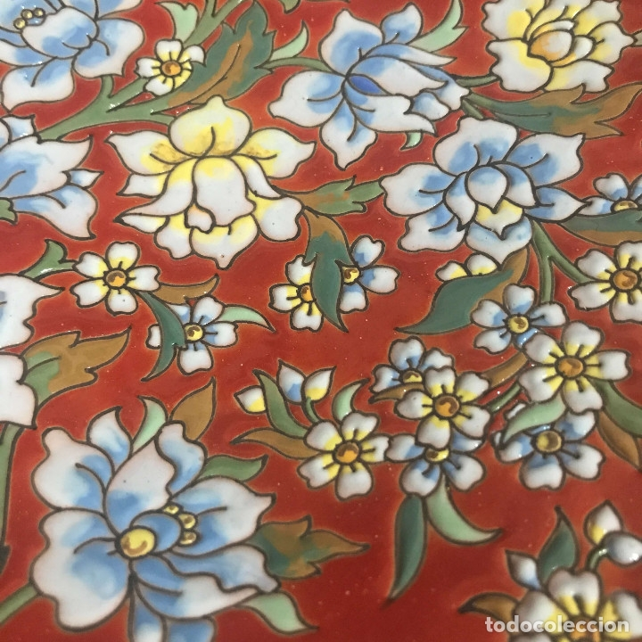 Antigüedades: Plato Aguado Toledo 30 cm motivos florales - Foto 3 - 174332094