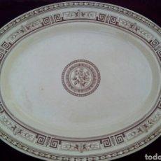 Antigüedades: DOULTON'S POMPEII. PLACA, BANDEJA DE PORCELANA. SIGLO XIX INGLATERRA.. Lote 174333417