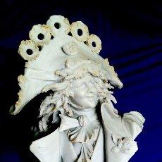 Antigüedades: BUSTO CABALLERO BISCUIT ART NOUVEAU. Lote 174333543