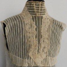 Antigüedades: ANTIGUA FALSA CAMISA CON ENCAJE S. XIX. Lote 174335090