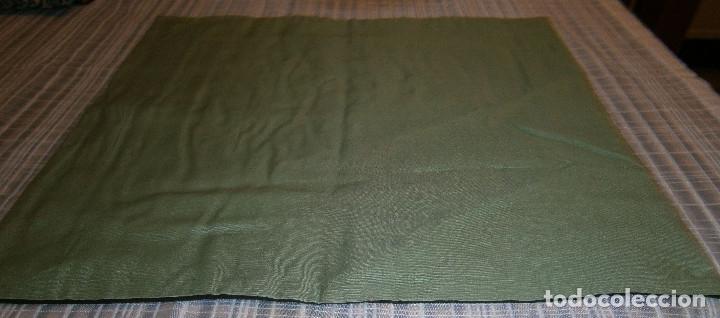 Antigüedades: tapete o mantel chino fondo de seda y bordado - Foto 2 - 174340930