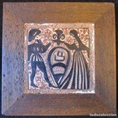 Antigüedades: AZULEJO SOCARRAT - FIRMADO P. VIVIR - 14X14 CM.. Lote 174345253