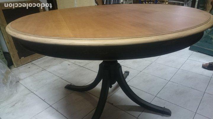 Antigüedades: Espectacular mesa de madera restaurada, de centro, sólida y estable. Leer. - Foto 7 - 122433555