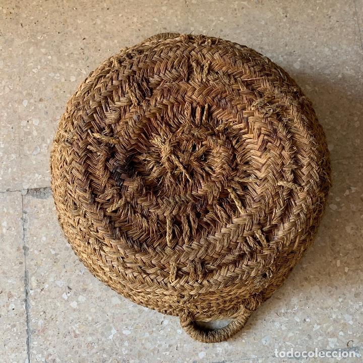 Antigüedades: CAPAZO DE ESPARTO TAMANO NORMAL = 58 CM. DIAMETRO - REF. # 2 - Foto 5 - 228425980