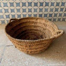 Antigüedades: CAPAZO DE ESPARTO TAMANO NORMAL = 58 CM. DIAMETRO - REF. # 2. Lote 228425980