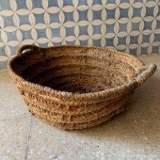 Antigüedades: CAPAZO DE ESPARTO TAMANO NORMAL = 60 CM. DIAMETRO - REF. # 4. Lote 228427410