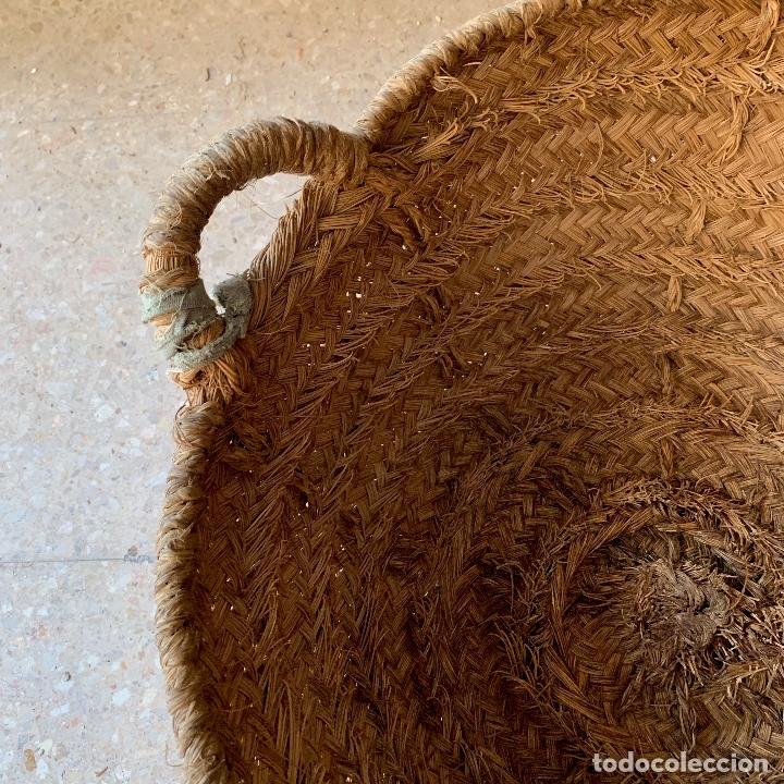 Antigüedades: CAPAZO DE ESPARTO TAMANO NORMAL = 61 CM. DIAMETRO - REF. # 5 - Foto 3 - 228427265
