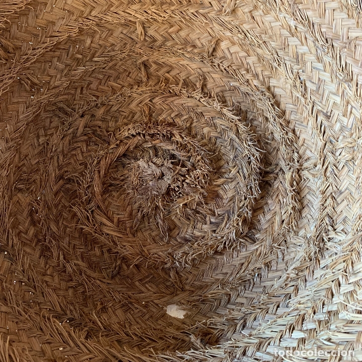 Antigüedades: CAPAZO DE ESPARTO TAMANO NORMAL = 61 CM. DIAMETRO - REF. # 5 - Foto 4 - 228427265