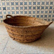 Antigüedades: CAPAZO DE ESPARTO TAMANO NORMAL = 61 CM. DIAMETRO - REF. # 5. Lote 228427265