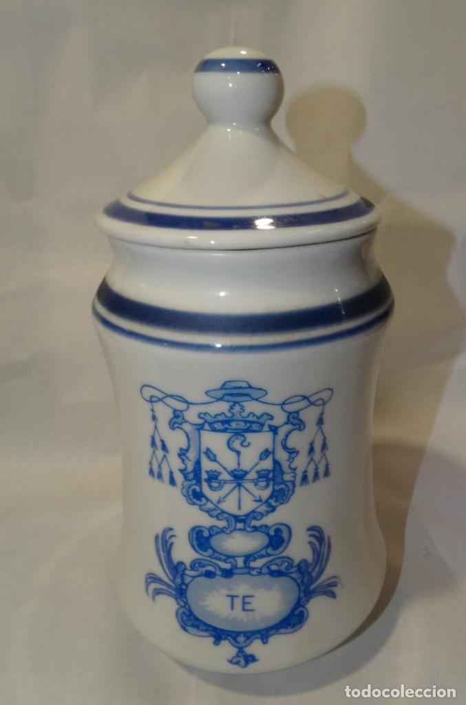 ALBARELO DE FARMACIA DE TÉ. (Antigüedades - Porcelanas y Cerámicas - Talavera)