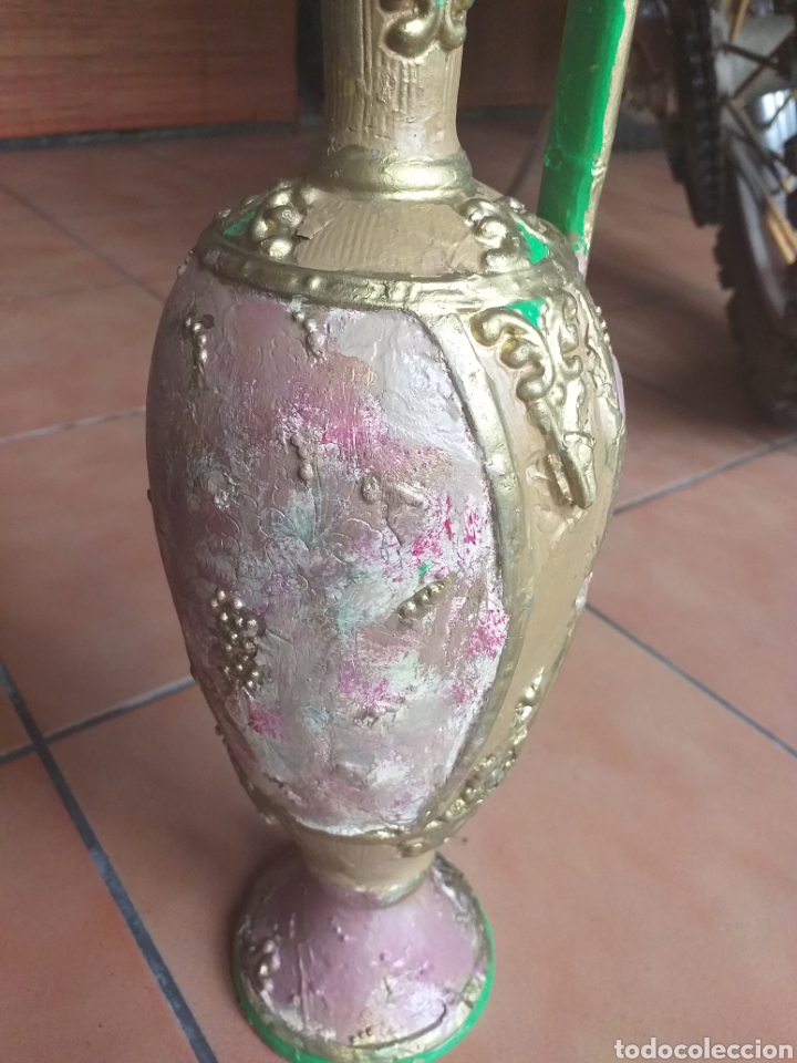 Antigüedades: JARRON O ANFORA,CREO QUE YESO? - Foto 2 - 174373903