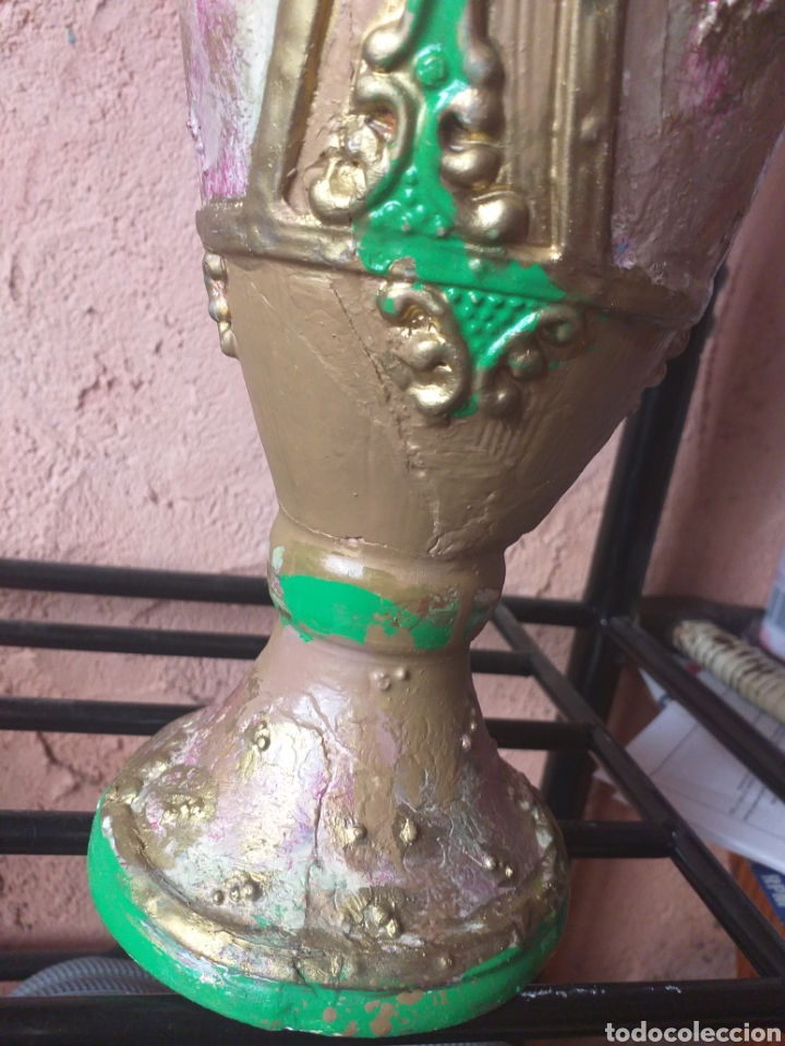 Antigüedades: JARRON O ANFORA,CREO QUE YESO? - Foto 13 - 174373903