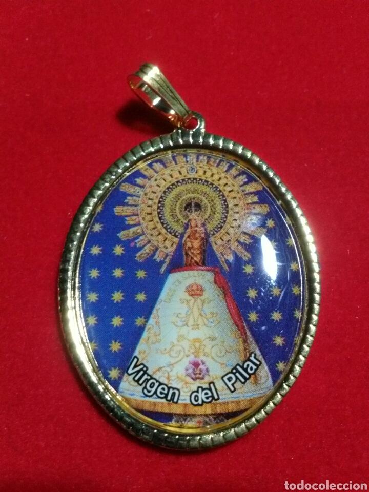 MEDALLA VIRGEN DEL PILAR. (Antigüedades - Religiosas - Medallas Antiguas)