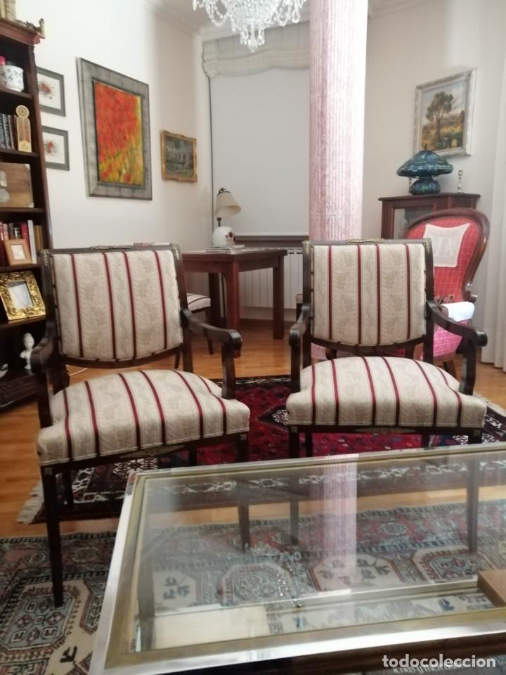 Antigüedades: Tresillo Isabelino caoba - Foto 3 - 174403524