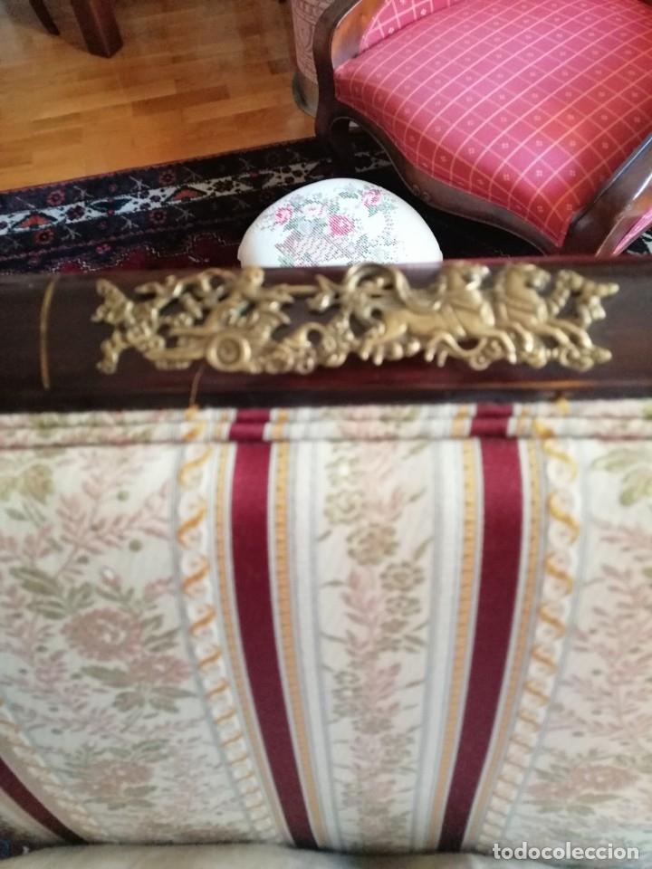 Antigüedades: Tresillo Isabelino caoba - Foto 4 - 174403524