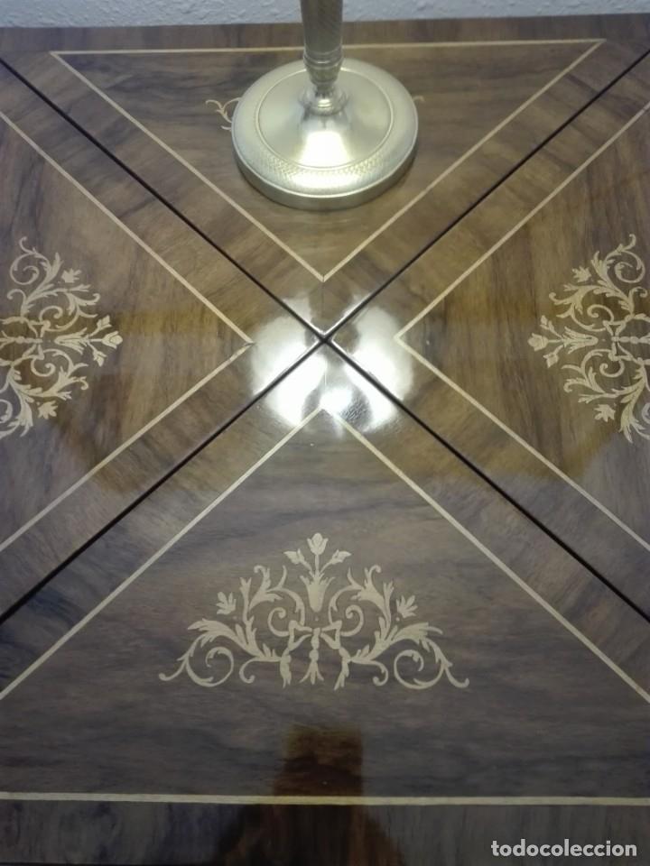Antigüedades: Mesa de juego de pañuelo. Solo recogida. - Foto 3 - 174403920