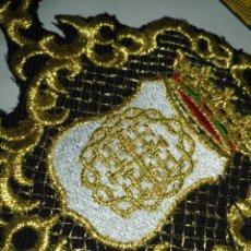 Antigüedades: PIEZA BORDADA ORO SOBRE NEGRO CONFECCIONES FAJIN MANTOS SAYA VIRGEN SEMANA SANTA OFERTA X LOTES. Lote 174416689