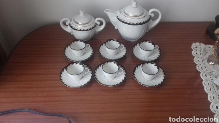 FINISIMO JUEGO DE CAFE CASTRO SARGADELOS (Antigüedades - Porcelanas y Cerámicas - Sargadelos)