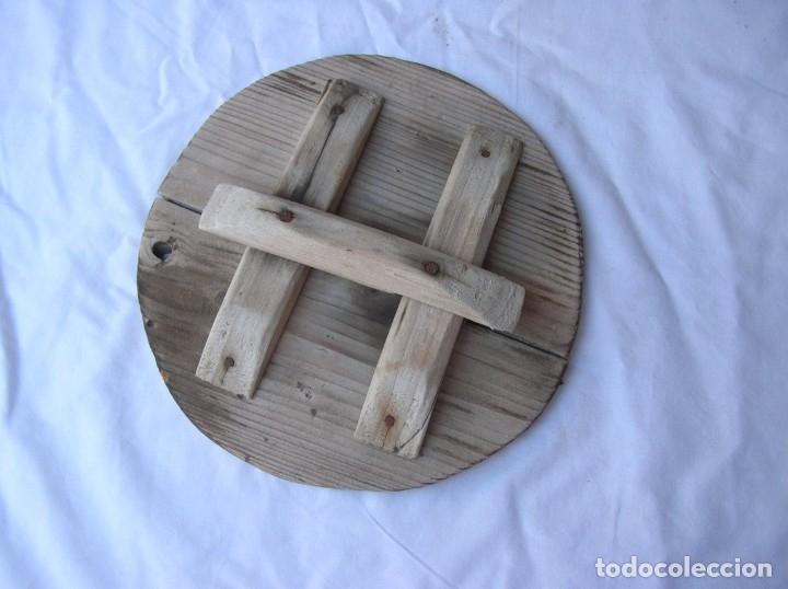 Antigüedades: Orza .Matanza . años 40 / 50 .Ceramica Lucena . Alt .44 cm .Boca 22 cm. Tapa madera . nuevas fotos - Foto 5 - 71170025