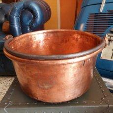 Antigüedades: CALDERO COBRE ANTIGUO RESTAURADO. Lote 174452930