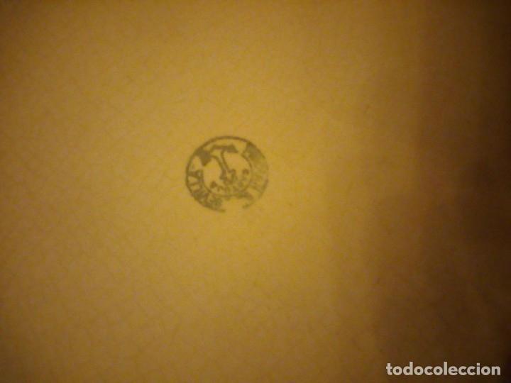 Antigüedades: Lote de 3 fuentes y 1 plato de cerámica la cartuja pickman,motivo floral,siglo xix - Foto 12 - 174459229