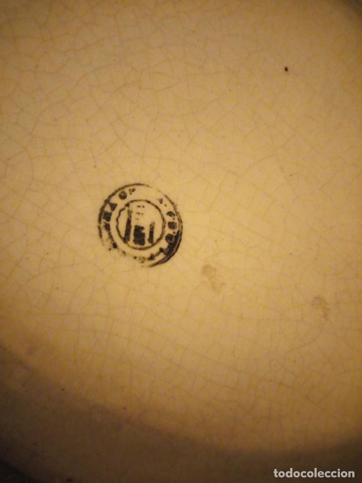 Antigüedades: Antigua fuente de la cartuja pickman,blanco roto,siglo xix - Foto 3 - 174459959