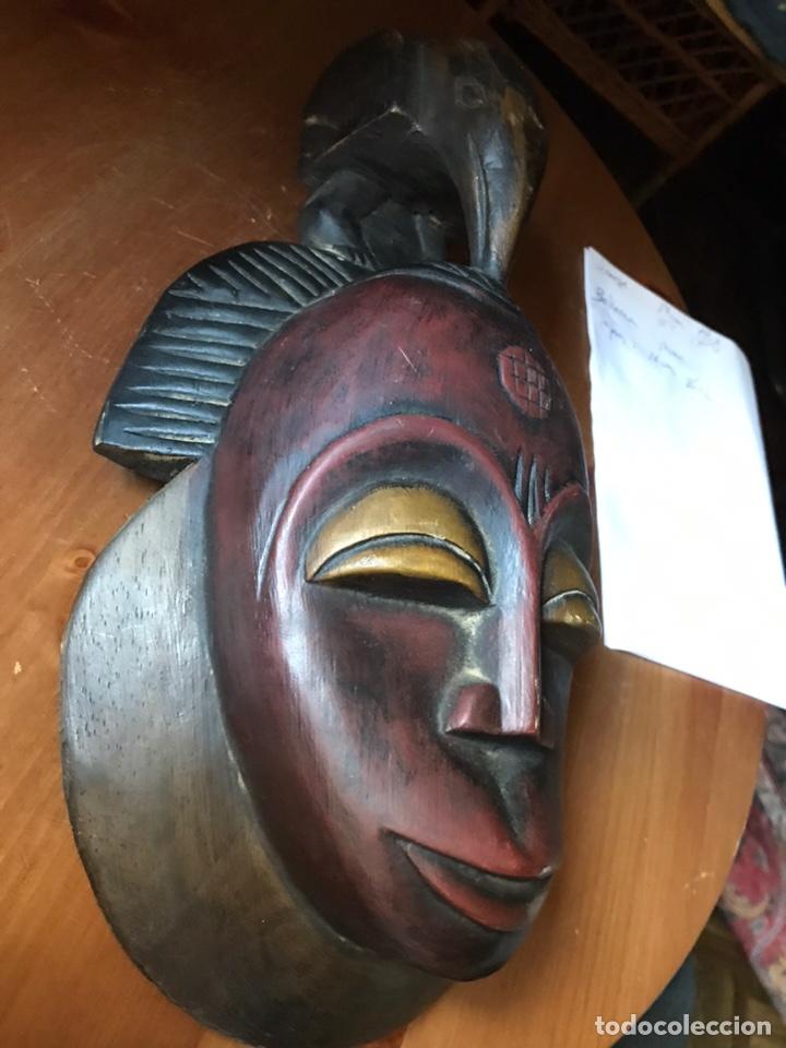 Antigüedades: Máscara de madera Africana - Foto 2 - 174463734
