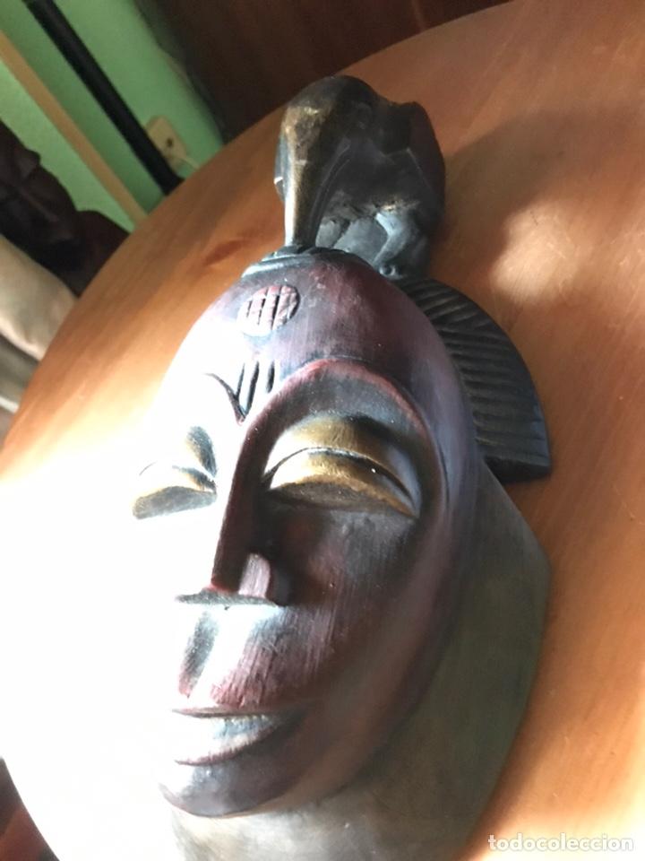 Antigüedades: Máscara de madera Africana - Foto 3 - 174463734