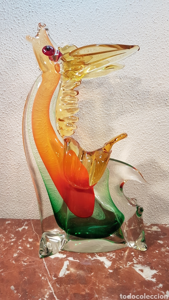 CABALLO / BURRO DE CRISTAL MURANO. ALTURA 39 CM. (Antigüedades - Cristal y Vidrio - Murano)