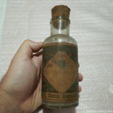 Antigüedades: ANTIGUO FRASCO CRISTAL FARMACIA CACODILATO KAKODILATO DE SODIO MERCK. Lote 174479044