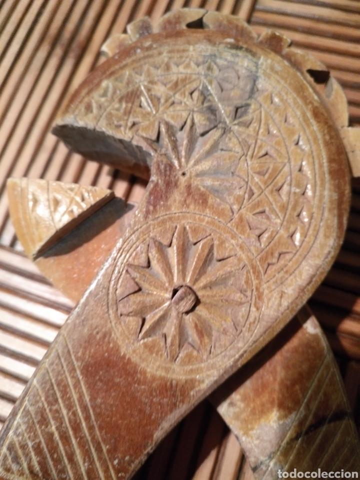 Antigüedades: Casca piñones pastoril Antiguo , Casca piñones Madera antigua - Foto 2 - 174479287