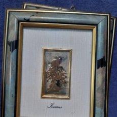 Antigüedades: CUADRO ITALIANO DE LAS ESTACIONES DEL AÑO EN PLATA DE LEY. Lote 174498828