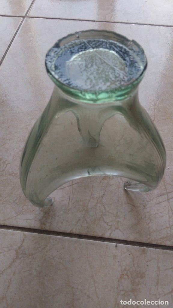 Antigüedades: Antiguo centro de mesa de vidrio hecho a mano - Foto 3 - 174504174